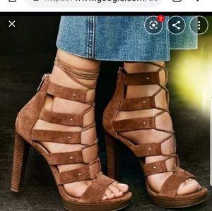 Michael Kors strappy tie up heels